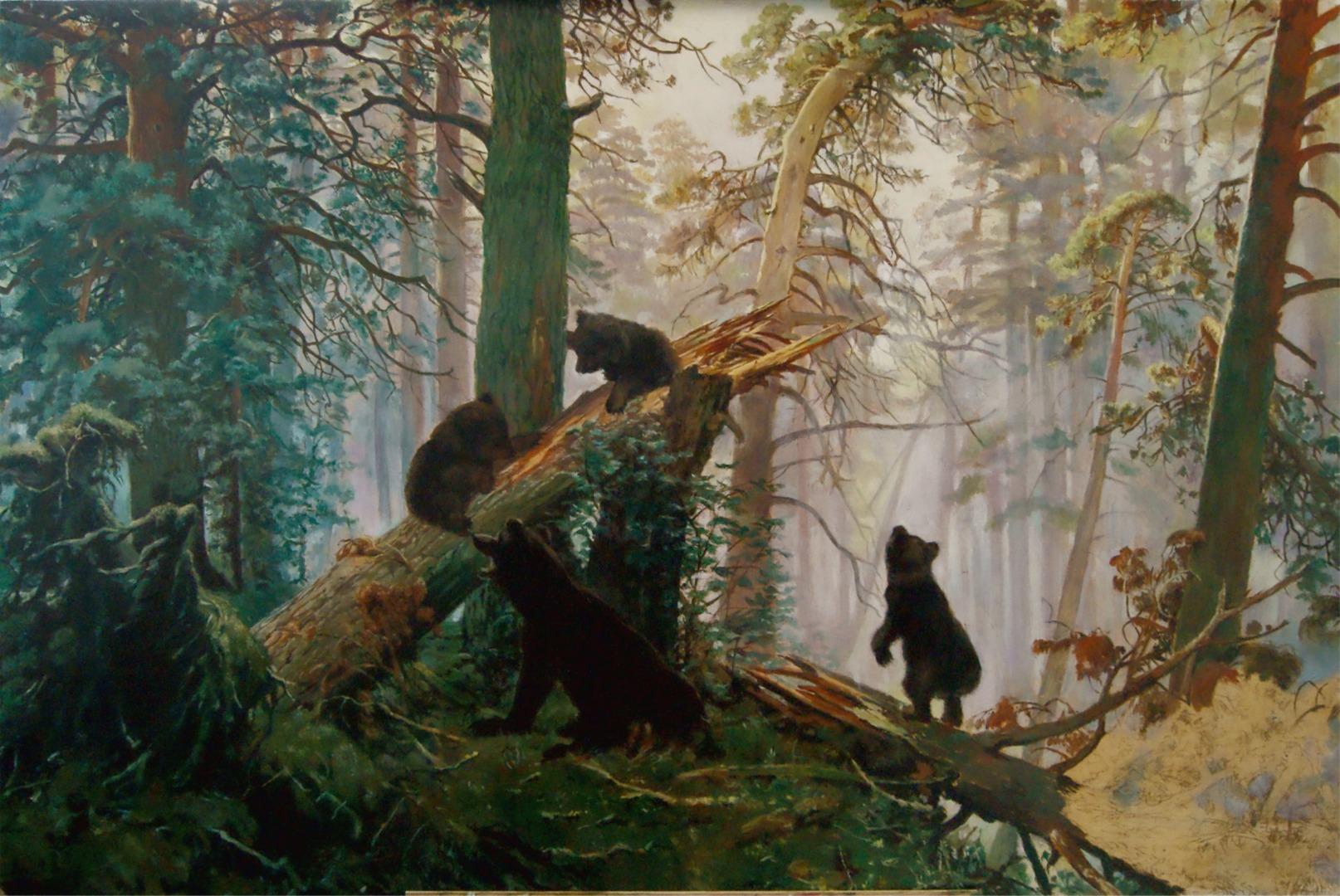 увидеть обои на рабочий стол три медведя шишкин онлайн инструмент